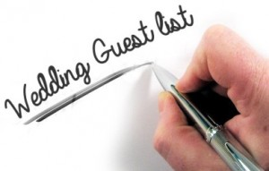 online wedding guest list