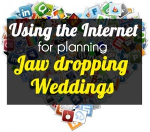 using internet for ideas for planning weddings