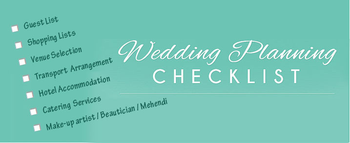 wedding planning checklist plan early plan well